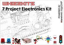 Whizzkit sette progetti elettronici KIT magicchip GREEN compilazione / ricompilazione 7 progetti