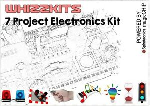 Whizzkit Seven Project Electronics Kit magicCHIP Green Build/Rebuild 7 Projects