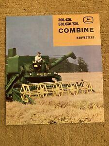 John Deere 360 430 530 630 730 Combine Harvester Brochure Leaflet Tractor