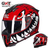 GXT Motorcycle Helmet Full Face w/Dual Anti-fog Sun Visor Motocross Race Unisex