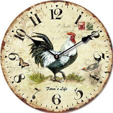 """Orologio da parete stile vintage """"Gallo"""", in legno, cm 34"""