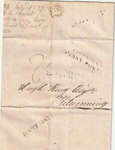 1837 SHOTTS IRONWORKS E/L BATHGATE PMK WHITBURN & IRVINE PENNY POSTS GAS PIPES
