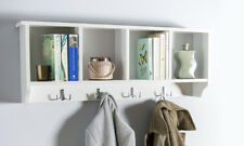 Wall Mounted Cabinet Coat Hooks White Wall Hanging Storage Unit Kempton