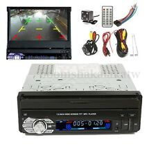 1 Din Single 7'' HD Touch Screen Car MP3/MP5 Bluetooth GPS Navigation & Camera