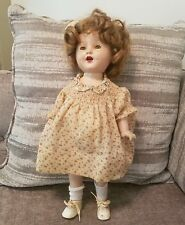 VINTAGE SHIRLEY TEMPLE COMPOSITE  HEAD & BODY DOLL
