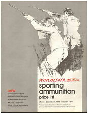Winchester Sporting Ammunition Price List - 1978