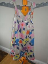 GIRL'S COLOURFUL SUMMER DRESS WITH ELASTICATED BACK 100% COTTON 9-10 YEARS.