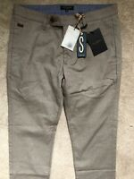 "TED BAKER BEIGE ""BUGGLES"" SLIM FIT TROUSERS PANTS CHINOS - 30R - NEW & TAGS"
