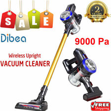 Dibea D18 Cordless Handheld Stick Vacuum Cleaner 9000Pa Suction LED Lights+Brush