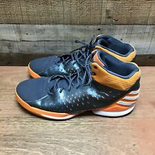 Adidas mens 14.5 grey orange high top basketball shoes