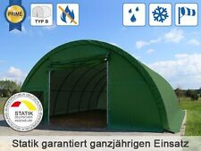 Rundbogenhalle Zelt Lagerzelt Weidezelt 9,15m x 12 m Höhe 4,5m PVC grün 720g/m²