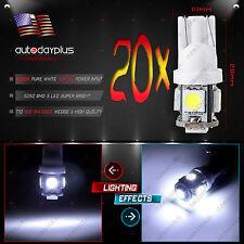 20 PCS Super White T10 168 194 Wedge 5-SMD 5050 LED Truck Light bulbs