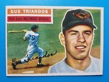 1956 TOPPS BASEBALL #80 GUS TRIANDOS    BALTIMORE ORIOLES VINTAGE