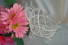 """4"""" Mini Wire Baby Carriage for Baby Shower Decorations or Cake Topper"""