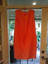 Jessica London  Sz 26W Linen Blend-Melon Color Sleeveless Dress- Back Zip-Nice !