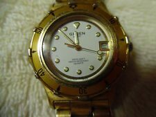 Gruen Sport 3ATM-100ft Water Resistant Japan Movement Gold Tone Watch 160-34R