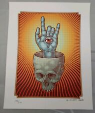 Reuben Rude  signed Blotter Art print psychedelic perforated art print