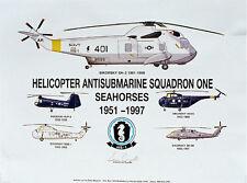 Navy Helicopters, HS-1, Print, Aviation Art, Ernie Boyette