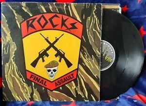 "Rocks - ""Final Assault"" - 12inch EP - original AUS vinyl - WATERFRONT RECORDS"