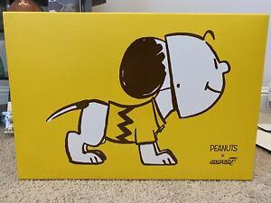 "Super7 SDCC 2019 Peanuts Snoopy & Charlie Brown Mask 16"" Vinyl Halloween"