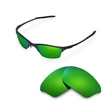 New WL Polarized Emerald Replacement Lenses For Oakley Half Wire XL Sunglasses
