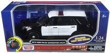 Motormax 1/24 LIGHTS & SOUNDS Blank Black & White Ford Utility Explorer Police