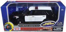 Motormax 1/24 LIGHTS & SOUNDS Blank Black & White Ford Utility Explorer Police