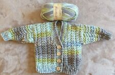 Hand Knitted Baby Aran Wool Cardigan BRAND NEW to fit age 6 Months Approx