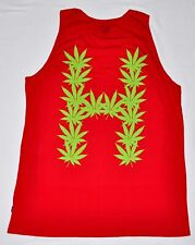 Men's HUF Leaves Tank Top Red/Green -420 Weed Marijuana- size L (T112) $30 NWOT