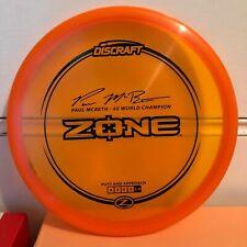 Discraft Paul Mcbeth 4x Zone Stock Stamp Flat Stiff Oop New You Pick Disc