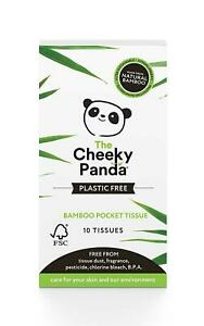 8 Pack of The Cheeky Panda Plastic Free Bamboo Pocket Tissues 100% Pure