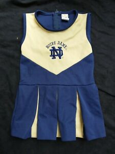 Notre Dame Fighting Irish 4T toddler cheerleading outfit uniform costume