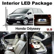For Honda Odyssey 2014-16 Xenon White LED Interior kit + White License Light LED