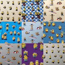 Jersey Stoff Digitaldruck Baumwolle Kinder Minions grau lila blau gelb 0,5 m