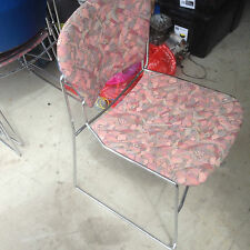 Office Meeting Visitor Waiting Room Stackable Perry Chair Pink Fuchsia Floral