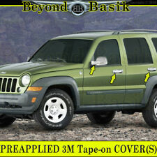 2002-2007 Jeep LIBERTY Chrome Door Handle Covers No Passenger Key Hole + Mirrors