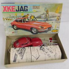 Vintage 1962 Aurora 1/25 XKE Jaguar Model Kit Red w box