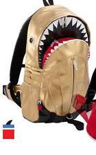 SHARK Backpack XL shiny GOLD PU Morn Creations bag tale thunderbolt jaws teeth