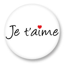 Porte clé Keychain Ø45mm Symbole Signe Je t'aime I Love You Amour Love JTM