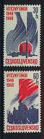 CHECOSLOVAQUIA CZECHOSLOVAKIA 1968  SC.1520/1521  MNH February Revolution