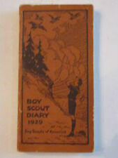 "1929 BOY SCOUT DIARY BOOKLET - EXCELLENT CONDITION  -  5 1/4"" X 2 7/8""  -  TUB G"