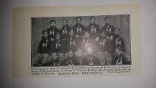 Western Military Academy   1902 Football Team Picture VERY RARE