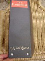 THE ECONOMIST BOUND VOLUME 1974 2ND QUARTER BINDER & 12 ISSUES FREE UK POST
