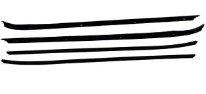 70-81 F-Body 4pc Belt Door Window Felt Weatherstrip OUTER FLAT BEAD  Install Kit