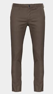 INCOTEX Italy Chinolino Luxury Lino Cotton Comfort Trousers Chino Pants 38