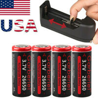Garberiel 26650 Battery Li-ion 3.7V Rechargeable for LED Flashlight Torch Lot