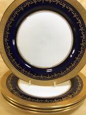 (4) Aynsley 'GEORGIAN COBALT' Gold Encrusted 8.25 inch Salad Plate #7348