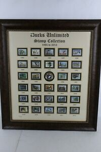 Ducks Unlimited Stamp Collection 1984-2012 Limited Edition 551/2500 Framed Pic