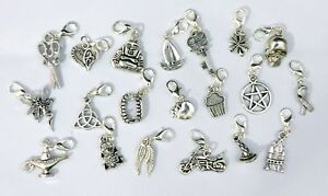 Clip on Charms for Bracelet - Lucky, Buddha, Lots to choose- Tibetan Silver
