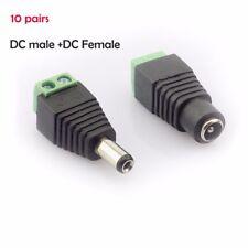 10 pair Coax Cat5 To Bnc DC Male jack plug DC female CCTV Camera Video Balun
